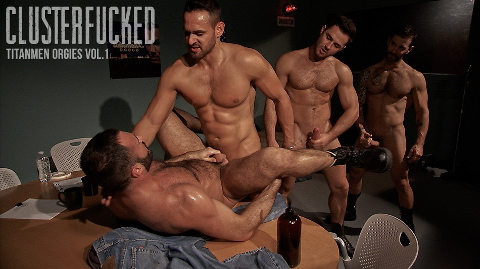 Cluster Fucked: Jessy Ares, Marco Wilson, Junior Stellano and Wilfried Knight